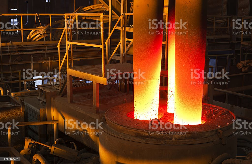 Iron and steel industry royalty-free stock photo