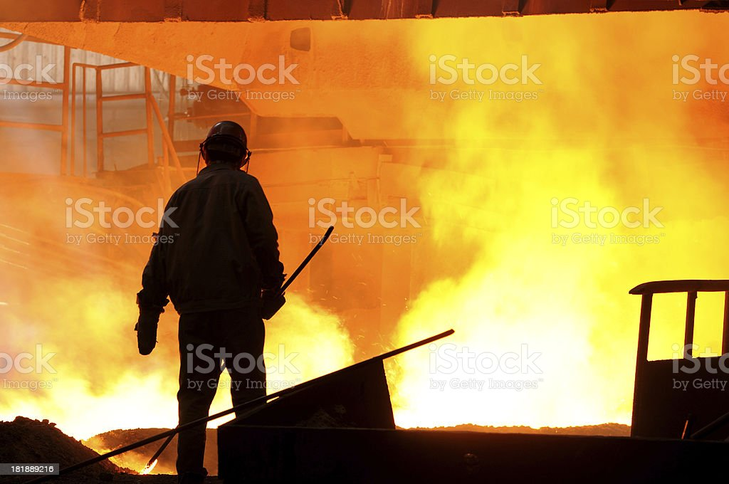 Iron and steel worker royalty-free stock photo