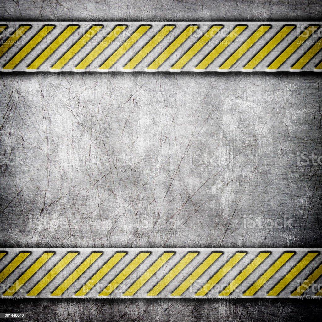 Fondo De Hierro Con Amarillo Advertencia Textura Metálica Para ...