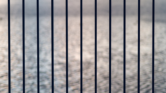 Iron bar fence abstract background.