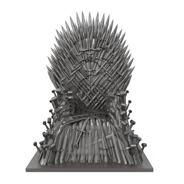 鐵刀片王座椅子隔離 - 鐵 個照片及圖片檔