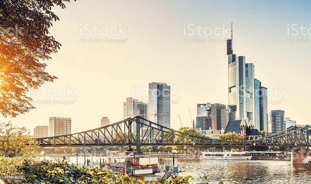 Eiserner Steg - Frankfurt am Main stock photo