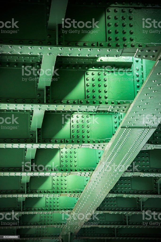 Iron bridge of steel foto de stock royalty-free
