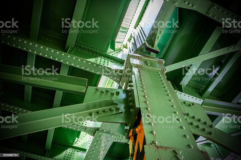 Iron bridge of steel zbiór zdjęć royalty-free
