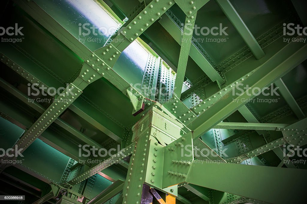 Iron bridge of steel foto de stock royalty-free