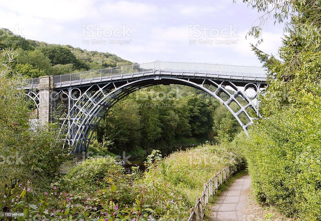 Iron Bridge over the River Severn, Shropshire stock photo