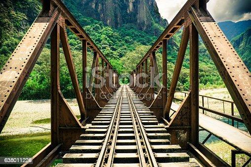 Iron bridge in the jungle