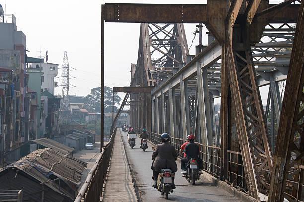 iron bridge - motorbike, umbrella stock photos and pictures