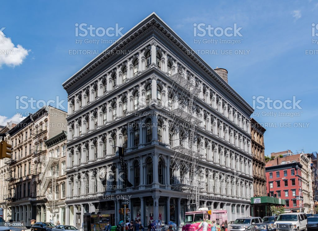 Iron Cast Bulding in Soho New York City stock photo