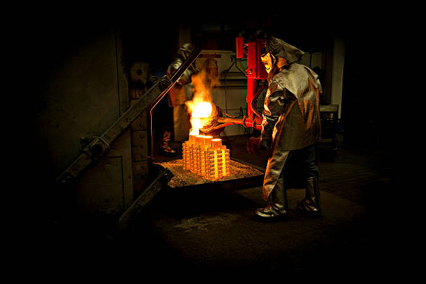 iron cast - metallurgy stock photos and pictures