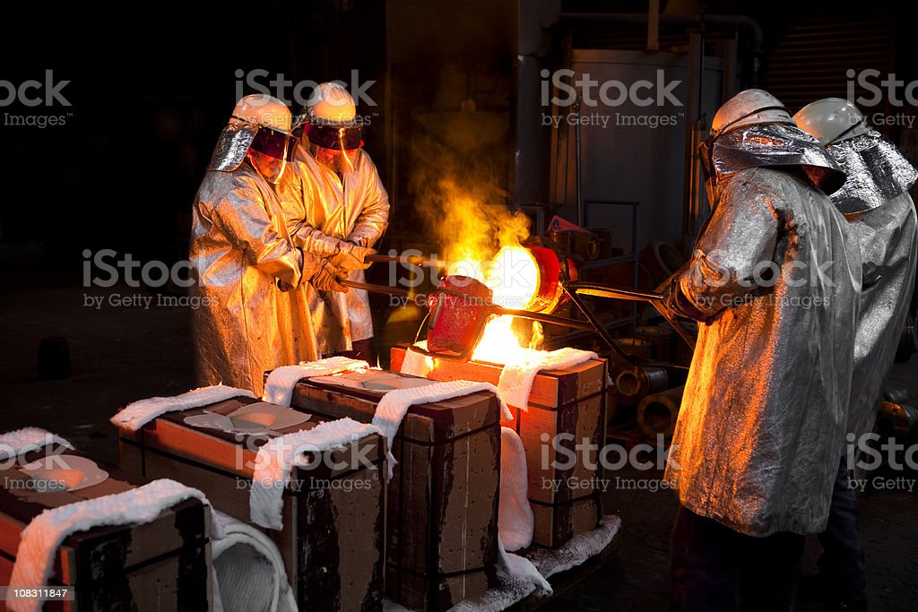 Iron Castinging stock photo