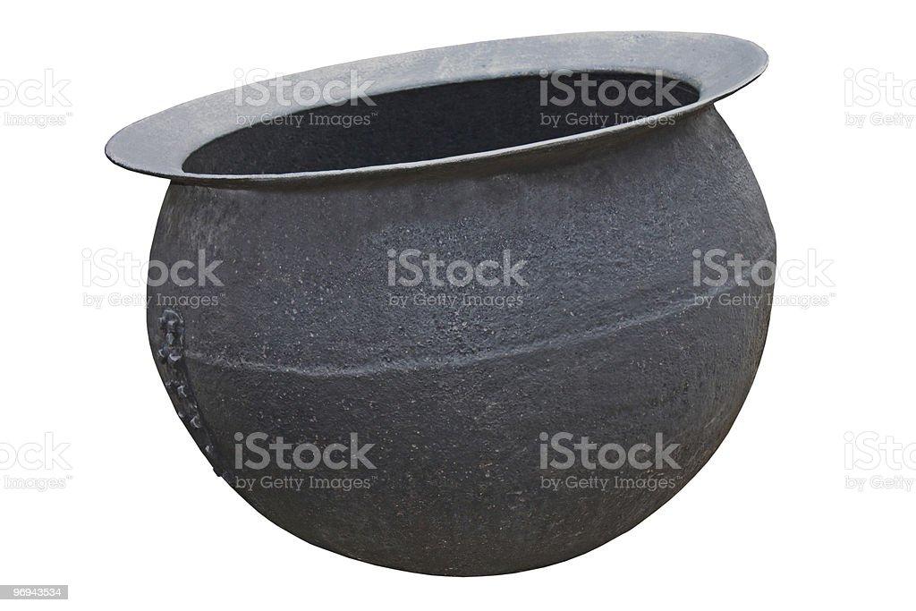 Iron Cauldron. royalty-free stock photo