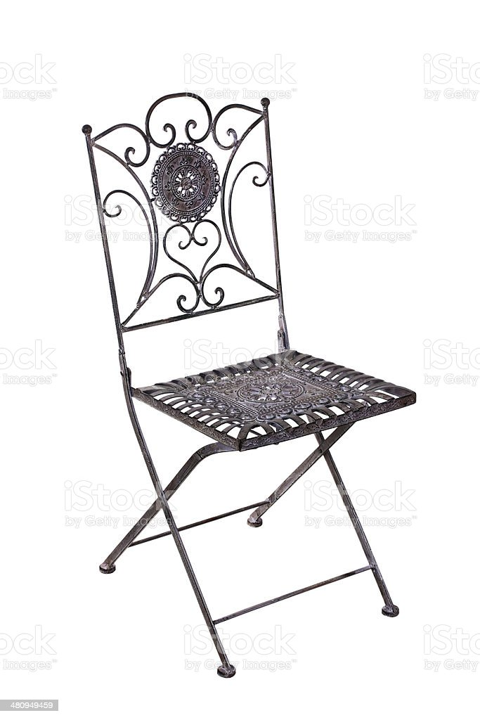 Iron chair, isolated stock photo