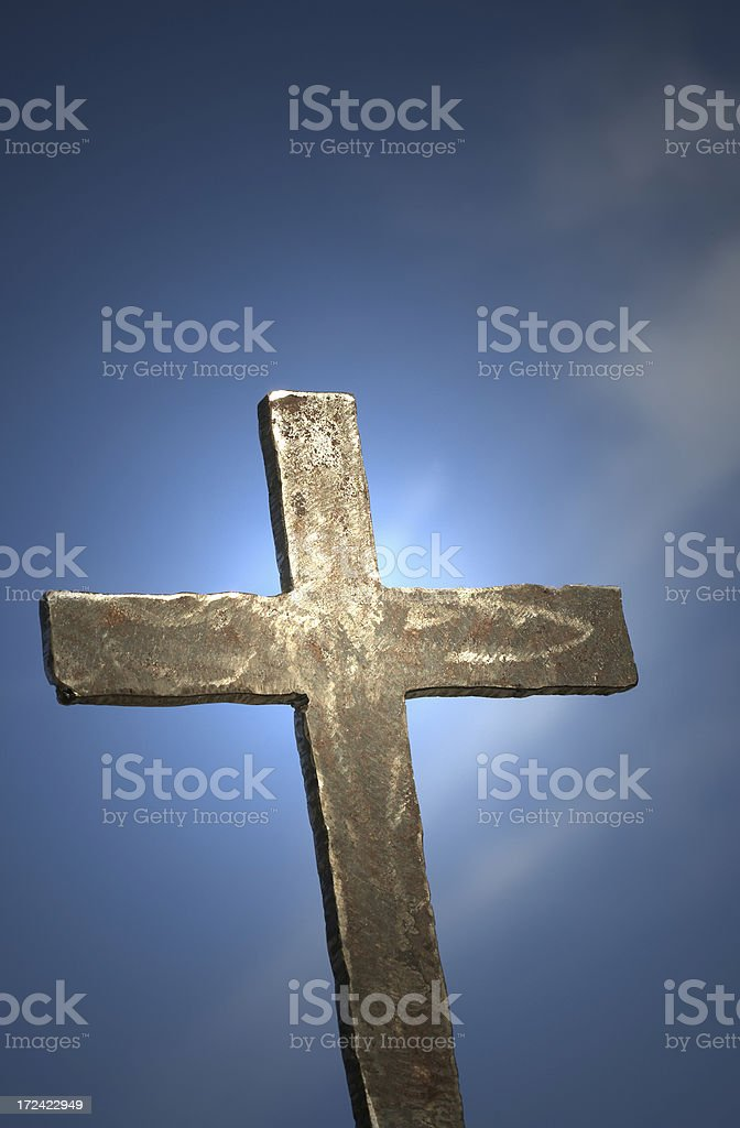 Iron Cross clear sky royalty-free stock photo