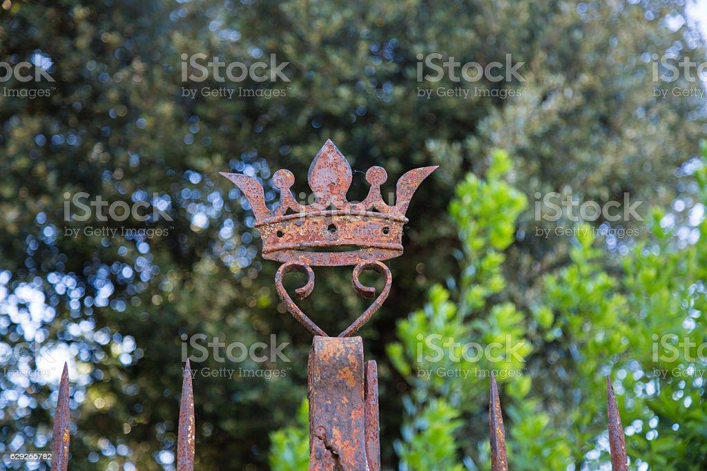 Iron Crown stock photo