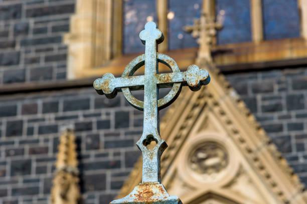 Iron Crucifex stock photo