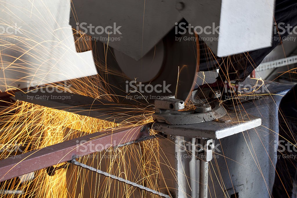 Iron cutting royalty-free stock photo