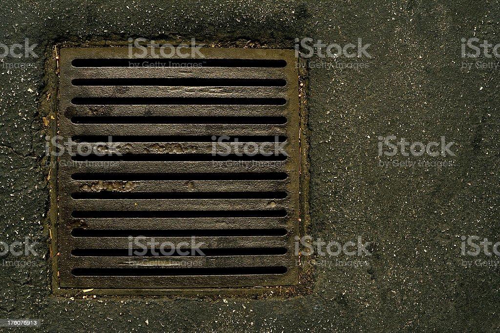 Iron Drain,Bars stock photo