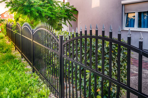 iron fence - fence stock photos and pictures