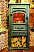 Iron fireplace wood stove