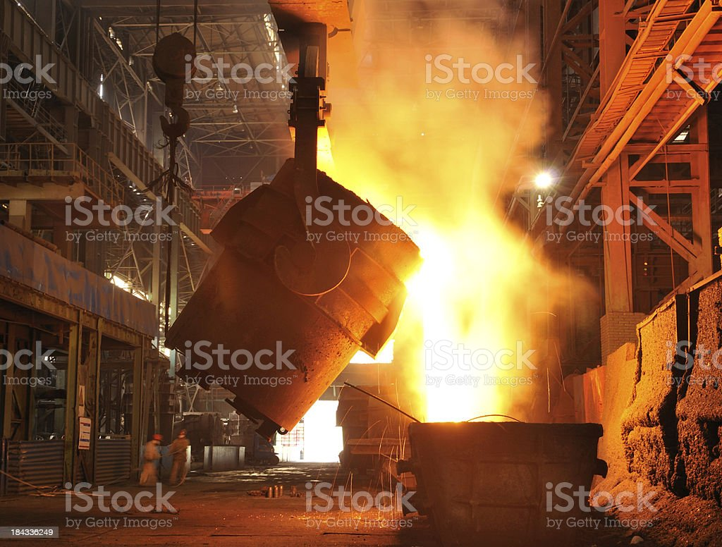 iron pour stock photo