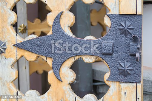 1178501072istockphoto Iron forged loop from an ancient lock 1127370097