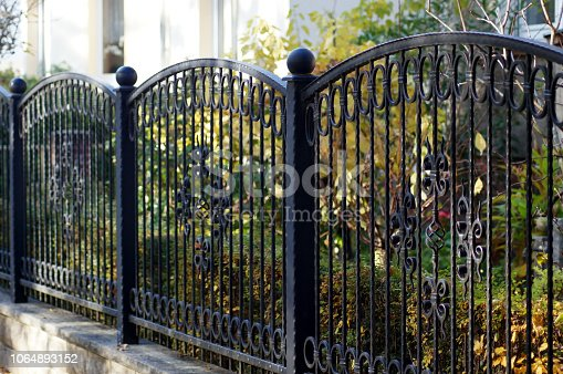 Iron garden fence for protection and safety