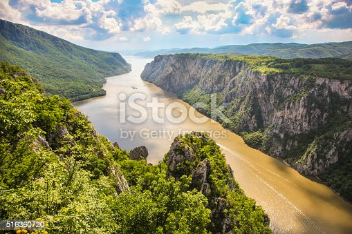 Iron Gate gorge is the largest gorge on the Danube river, located on the border of Serbia and Romania. National Parks are on the both sides of the river - Djerdap on Serbian side and Porțile de Fier on Romanian.