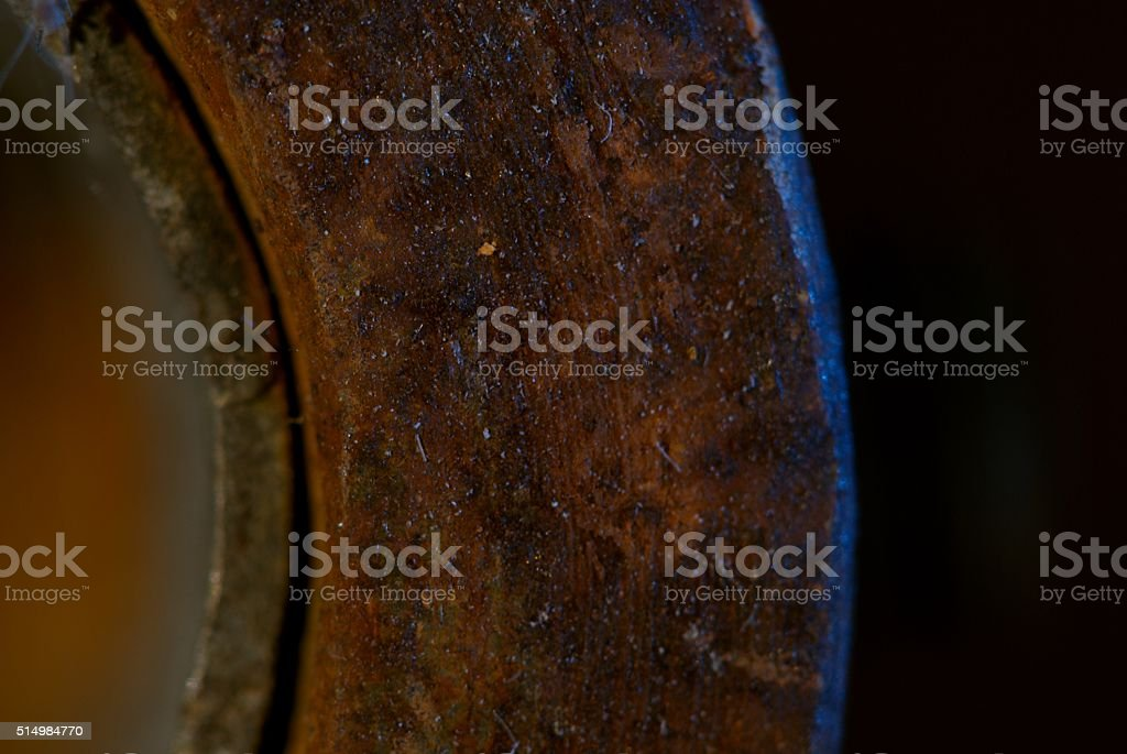 Iron gets better with time. stock photo