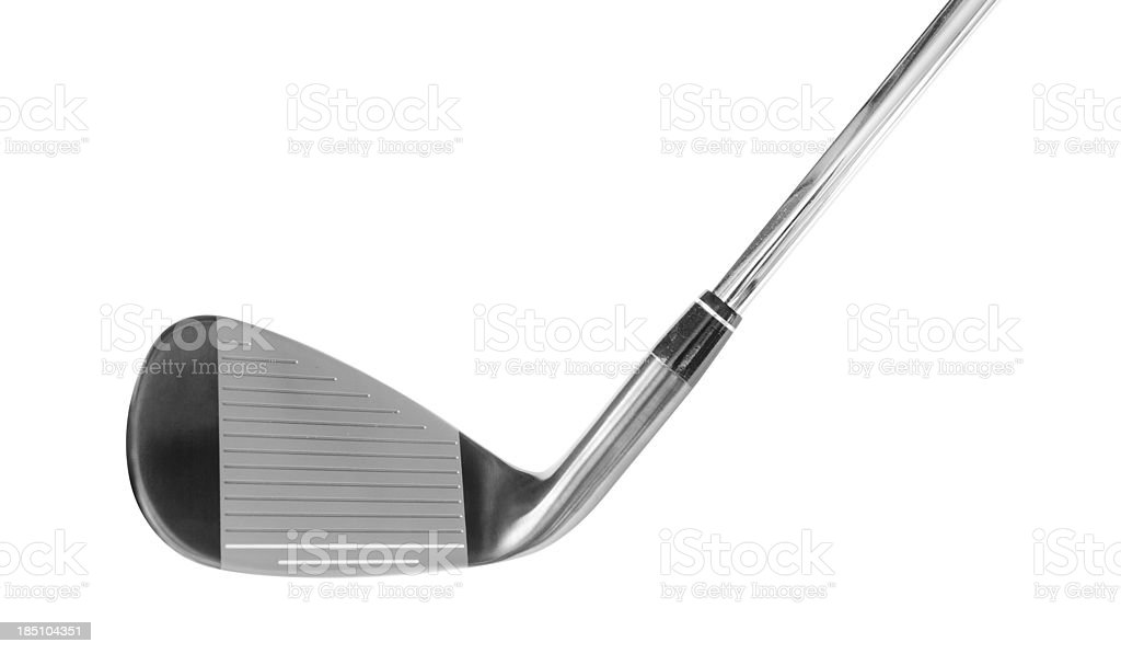 Iron golf club stock photo