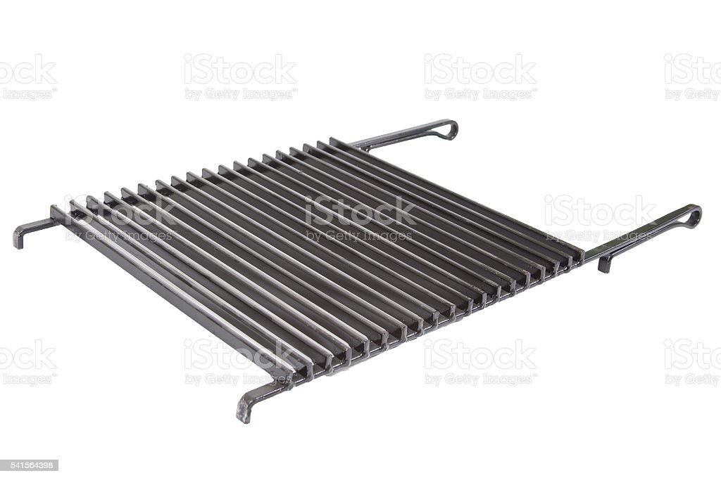 iron grid for barbecue isolated stock photo
