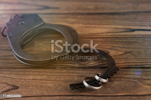172144035 istock photo Iron handcuffs for the arrest of criminals 1148004053
