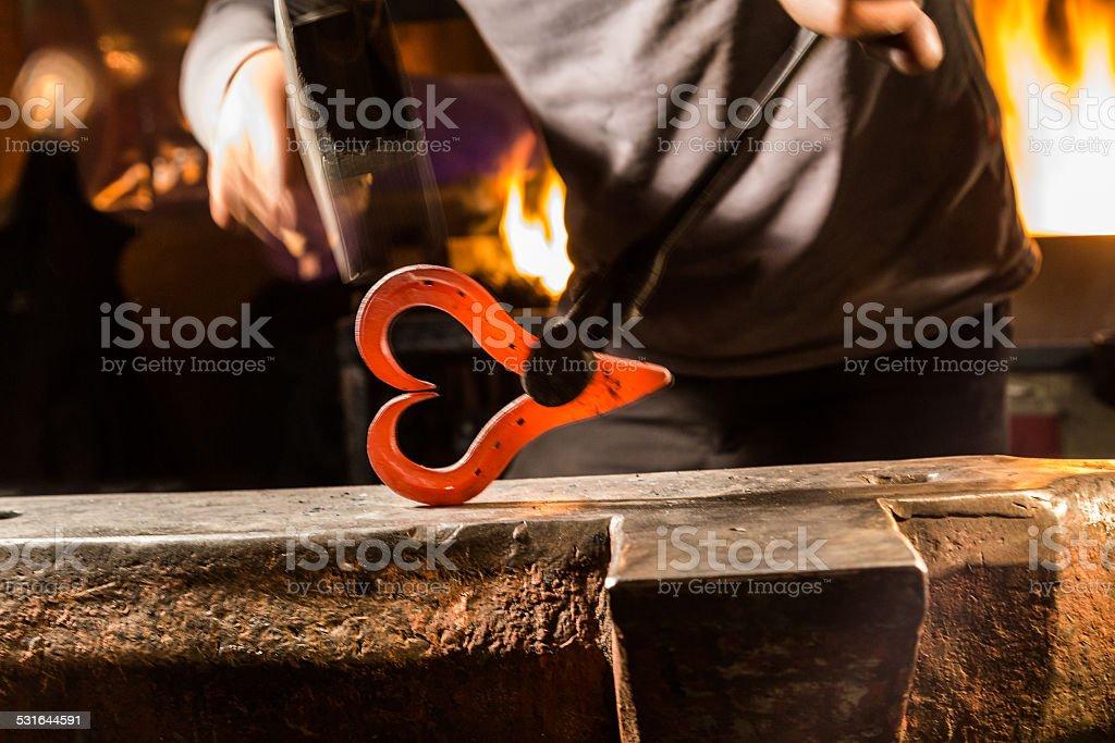 Iron Heart stock photo