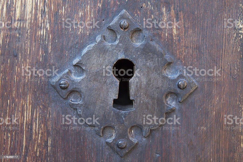 Iron lock old stock photo