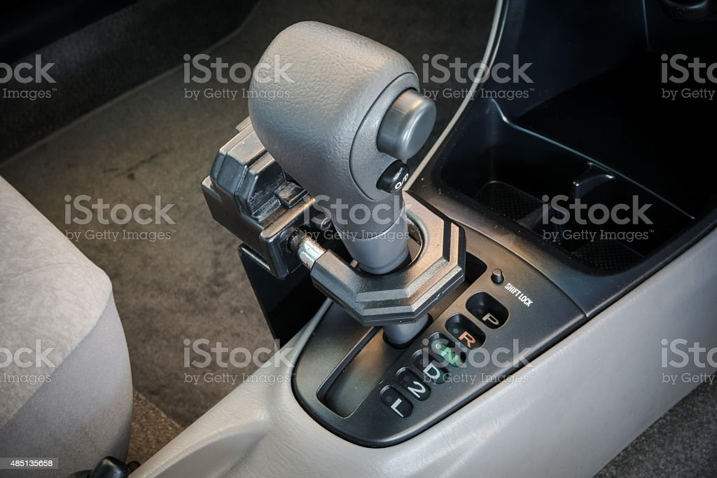 Iron Lock On Automatic Gear Shift Stock Photo - Download