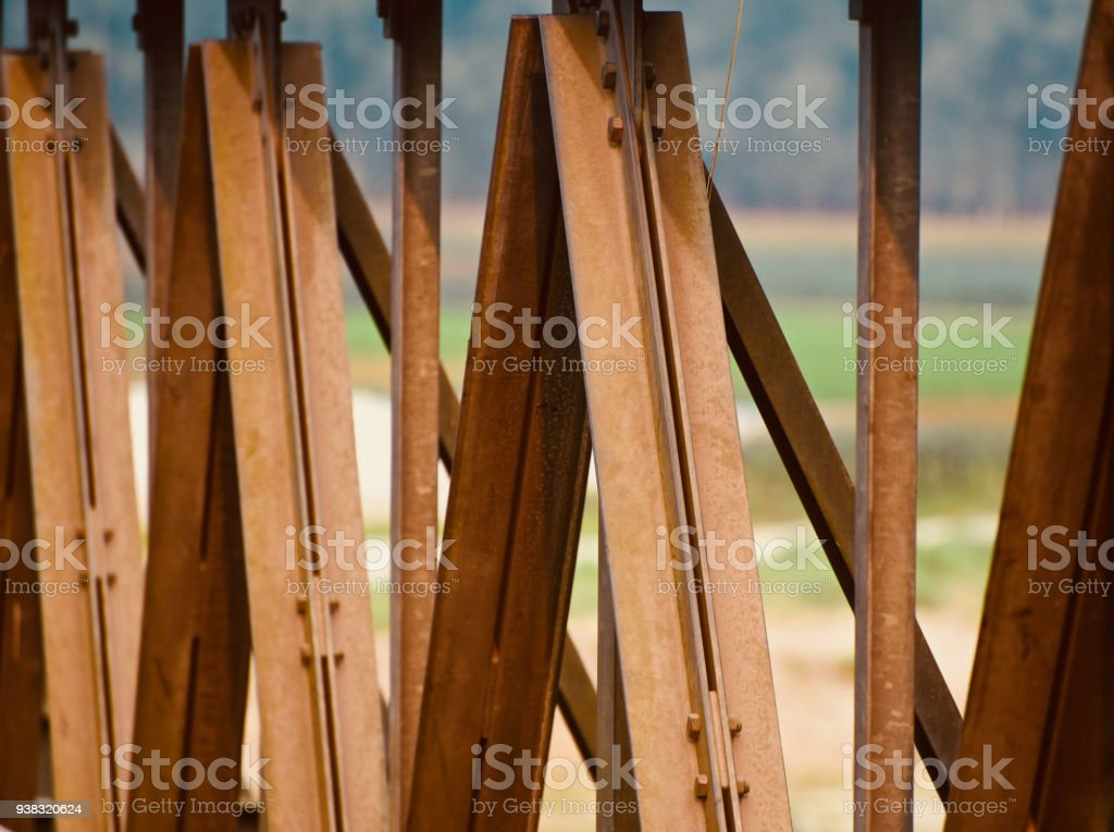 Iron made brown architectural structure photo stock photo