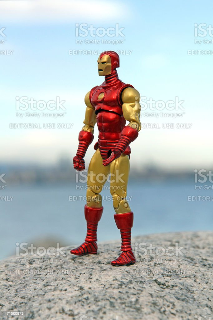 Iron Man and the City royalty-free stock photo