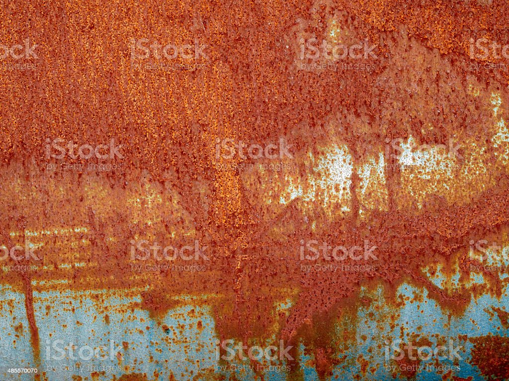 Iron metal surface rust stock photo