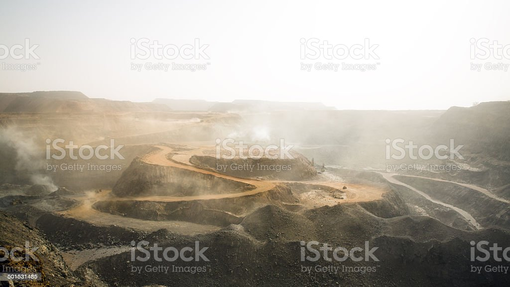 Iron mining stock photo