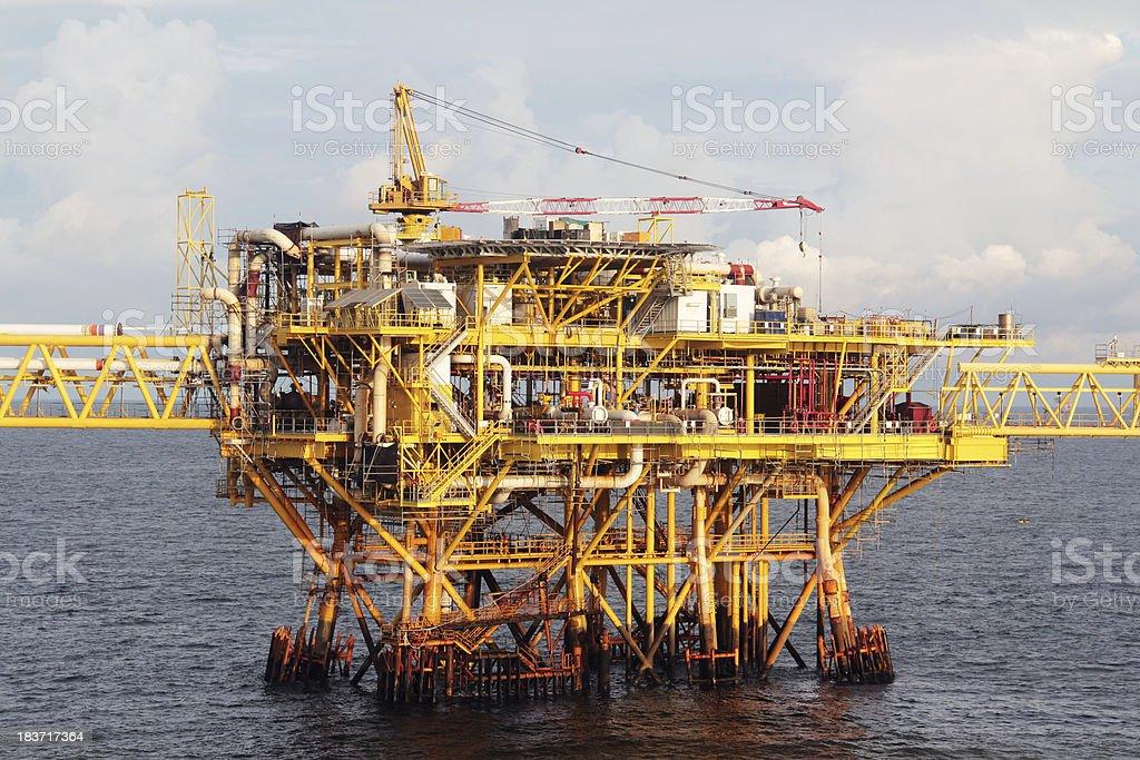 iron monster on the sea stock photo