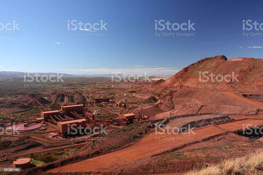 Iron Ore Mine Operations stock photo
