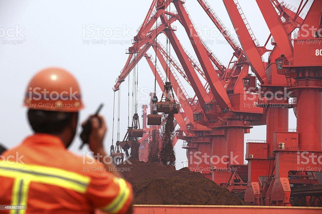 Iron ore terminal royalty-free stock photo