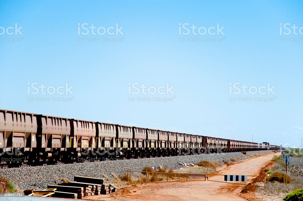 Iron Ore Train - Pilbara - Australia stock photo