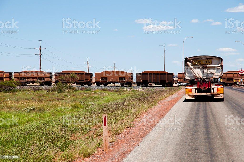 Iron Ore Train - Pilbara stock photo
