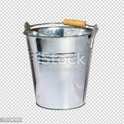 istock Iron pail or tin bucket. Isolated with Clipping Path. Stock image. 1012397842