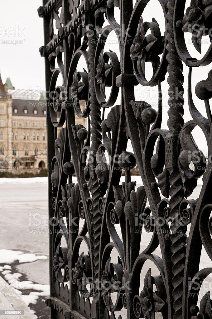 Iron Pedestrian Gate Ottawa royalty-free stock photo