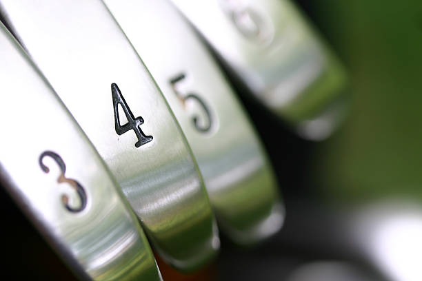 fore iron - golf clubs stock photos and pictures