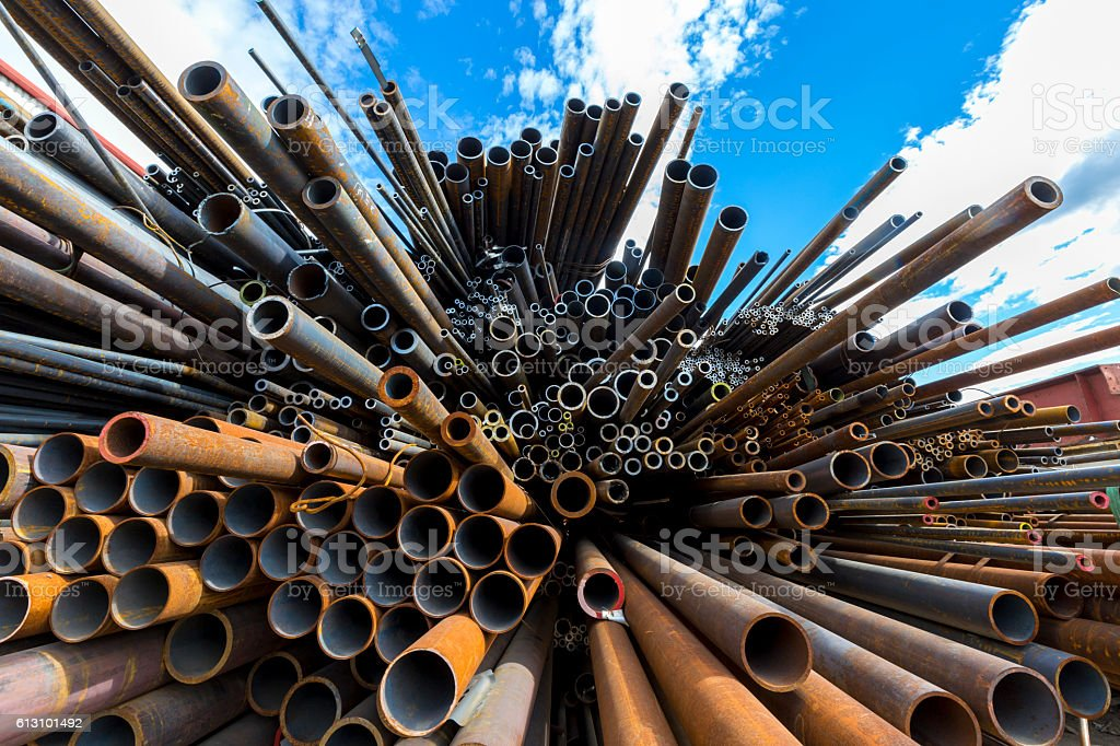iron pipe stock photo