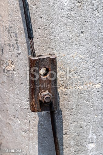 Iron plate and nut