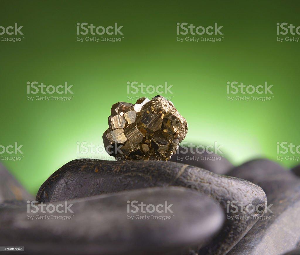 Iron pyrite stock photo